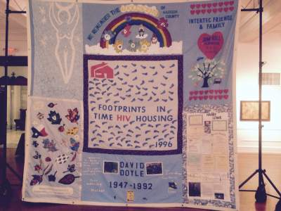A portion of the AIDS Memorial Quilt