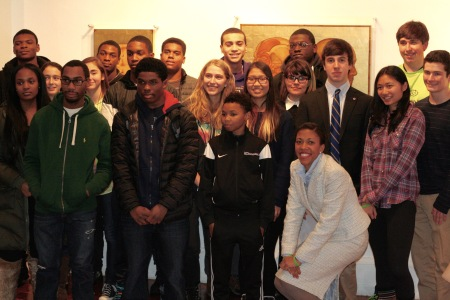 PA Teens pose with Dr. Loren Robinson