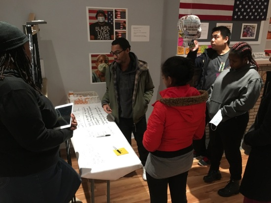 Teva interns share their thoughts on racism at the Racism is a Sickness installation