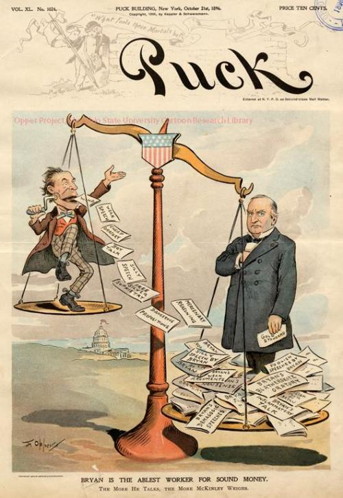 Cover of the October 21, 1896, issue of Puck