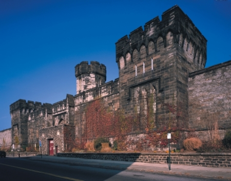 Daytime facade of Eastern State Penitentiary