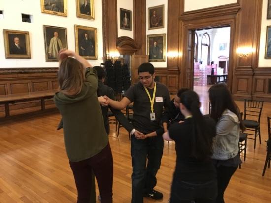 The Karabots Junior Fellows work with aspiring mentors to untangle a human knot
