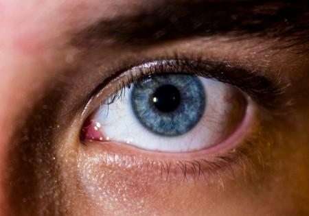Close-up image of a blue eye