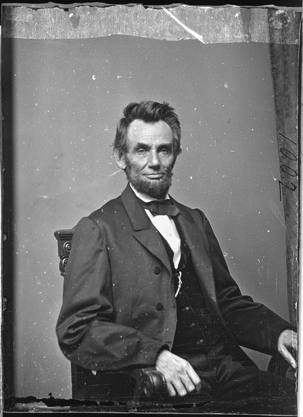 1864 Portrait of Abraham Lincoln by Matthew Brady; Source: National Archives and Records Administration