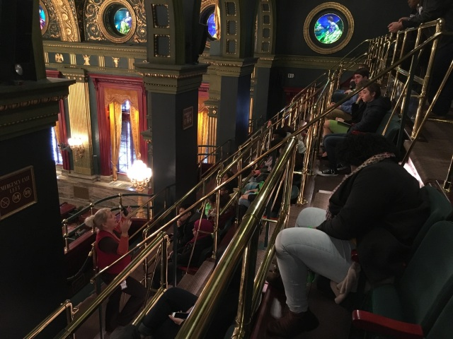 Students from CEPI's various youth programs sit in the observation deck atop the Pennsylvania State Senate chamber and listen to a guide conduct a tour of the State House