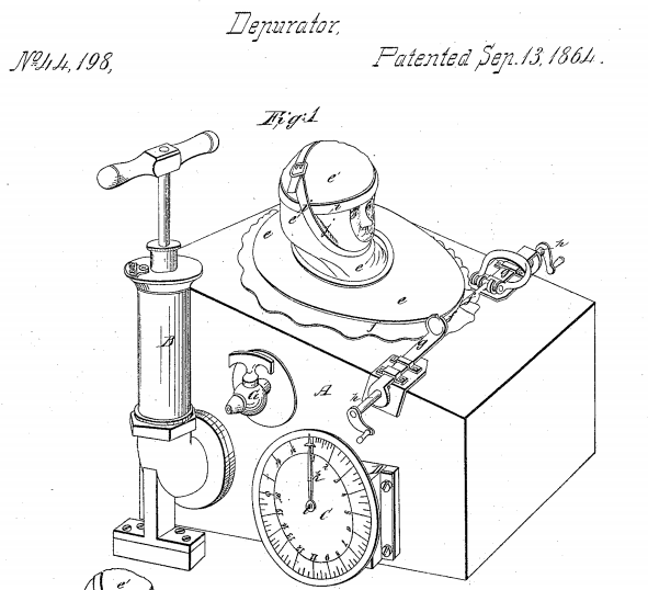 "Image of Alfred Jones' ""Restorator"" from his patent application US Patent No: US44198"