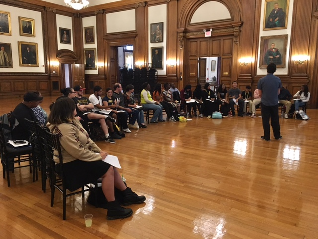 Students in the Karabots Junior Fellows Program attend a workshop on college financial aid held at the College of Physicians of Philadelphia