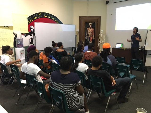 STudents in the KArabots Junior Fellows Program attend a workshop on the college application process