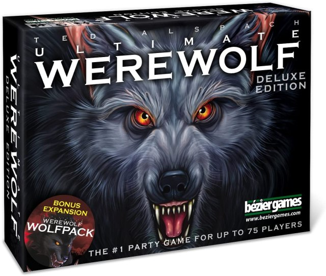 Box cover for Ultimate Werewolf depicting the face of a wolf